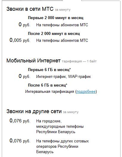 Информация о Тарифе 4G Мега
